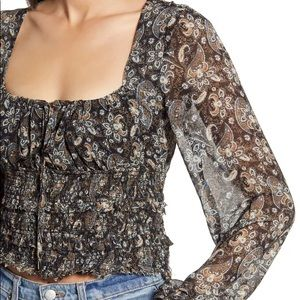 🆕Free People Paisley Floral Print Tunic